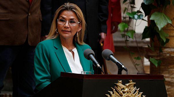 الرئيسة البوليفية المؤقّتة جانين آنييز