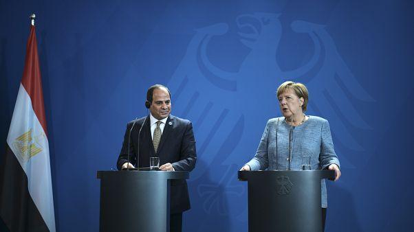Mısır Cumhurbaşkanı Abdulfettah Sisi // Almanya Başbakanı Angela Merkel