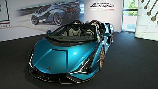Lamborghini präsentiert Hybrid-Supersportwagen Sián Roadster