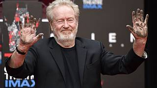 Sir Ridley Scott, director during a ceremony at the TCL Chinese Theatre, May 17, 2017 in Los Angeles.