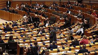 File photo: plenary session at the European Parliament in Brussels, Jan. 29, 2020.