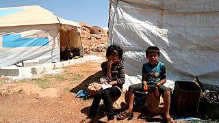 شاهد: نازحون يخشون الجوع وكورونا  في حال وقف إيصال المساعدات الى سوريا