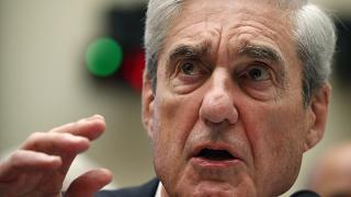 former special counsel Robert Mueller testifies before the House Intelligence Committee hearing on his report on Russian election interference, Washington, July 24, 2019.
