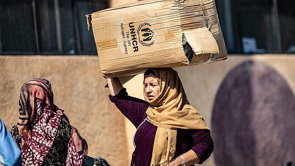 Suriyeli mültecilere insanı yardım dağıtımı / Arşiv