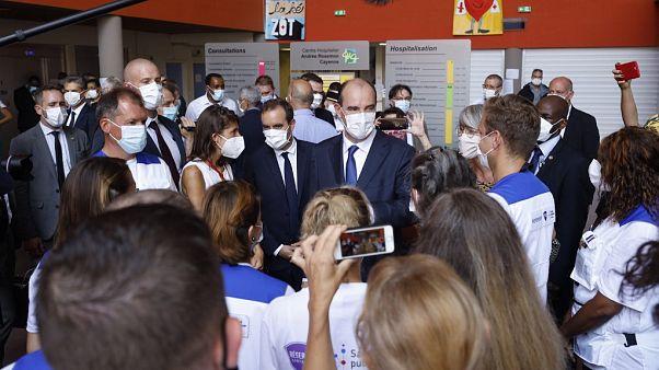 Jean Castex à l'Hôpital de Cayenne, le 12 juillet 2020.