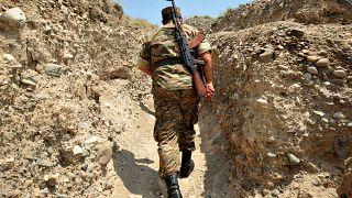 Photo d'archives - Soldat arménien dans le Haut-Karabakh, le 11/07/2012