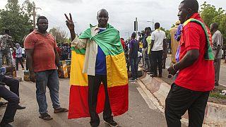 Manifestants à Bamako, le 10 juillet 2020.