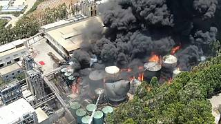 Cina, sotto controllo l'incendio alla raffineria nella provincia di Fujian