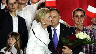 Andrzej Duda és felesége, Agata