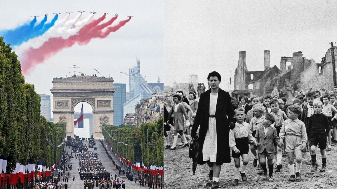 Célébration du 14 juillet en 2019 et 1944