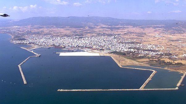 Αεροφωτογραφία του λιμανιού της Αλεξανδρούπολης
