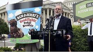 Ben & Jerry's co-founder Jerry Greenfield speaks on Capitol Hill in Washington