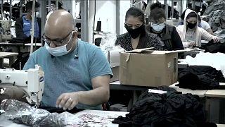 İngiltere'nin Leicester kentinde hazır giyim sektöründe çalışanlar