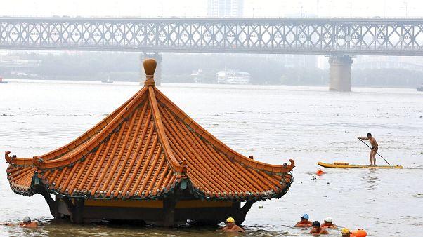 Árvíz a kínai Vuhanban júliusban