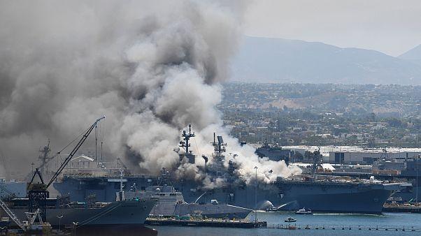 ABD Donanmasına ait 'USS Bonhomme Richard' adlı savaş gemisi