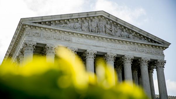 El edificio de la Corte Suprema es fotografiado el jueves 9 de julio de 2020 en Washington.