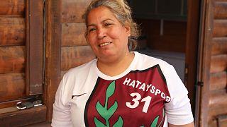 Hatayspor'un 31 yıldır amigoluğunu yapan Songül Taşdelen.