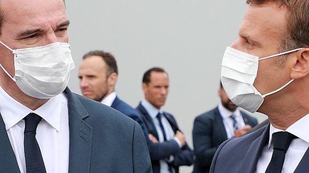 Macron und Castex am Rande der Feierlichkeiten zum französischen Nationalfeiertag