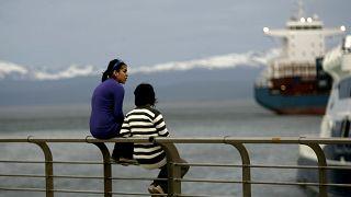 Foto d'archivio scattata nel 2007 a Ushuaia, il centro urbano più a sud in Argentina