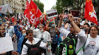Manifestation de personnels soignants, Paris le 14 juillet 2020