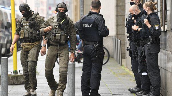 Polizei in Frankfurt am Main im Juni