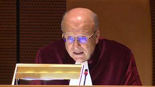 EuGH-Päsident Koen Lenaerts bei der Verlesung des Urteils