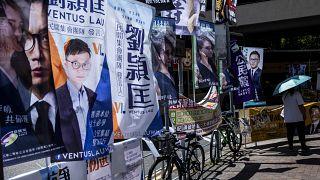 ملصقات لحملات انتخابية في هونغ كونغ