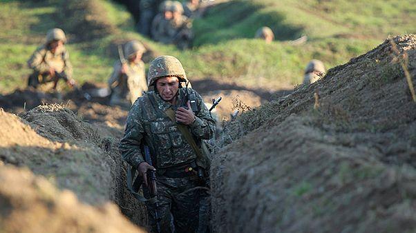 اشتباكات مسلحة على الحدود الأرمينية الأذربيجانية في 15 يوليو 2020.