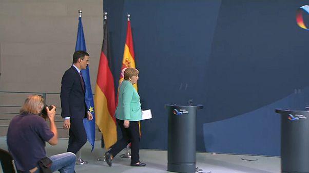 Sánchez y Merkel presionan para un acuerdo