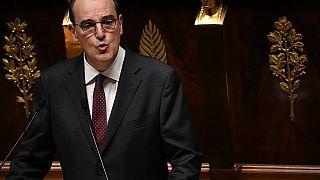 Jean Castex à la tribune de l'Assemblée nationale, Paris (France), le 15/07/2020