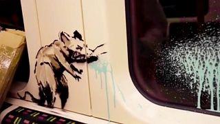 Una rata expulsando un líquido verduzco, la nueva pintada del enigmático Banksy