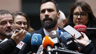 File photo: Roger Torrent, President of Catalonian Parliament, at the European Parliament in Strasbourg