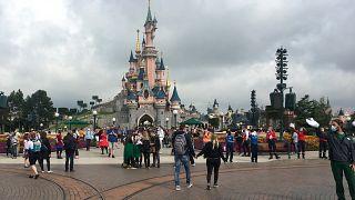 Les visiteurs de retour à Disneyland Paris, le 15/07/2020