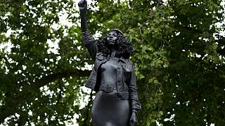 A statue of BLM activist has replaced that of slave trader Edward Colston in Bristol