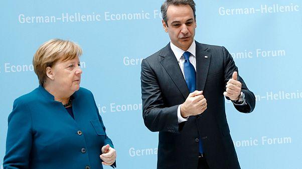 Angela Merkel Kyriakos Mitsotakis