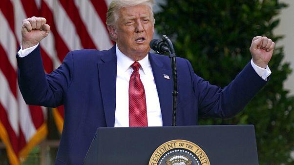 Donald Trump szónoklat közben