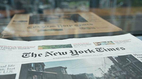 "Обложка газеты ""Нью-Йорк таймс"""