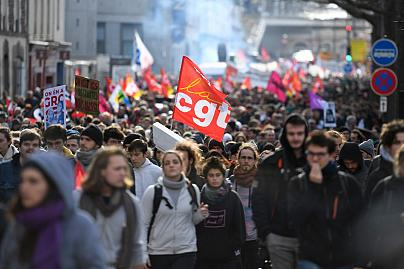 France's transport strike brought the country to a standstill.
