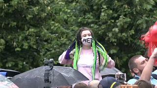 Несогласованный митинг в Москве против поправок к конституции