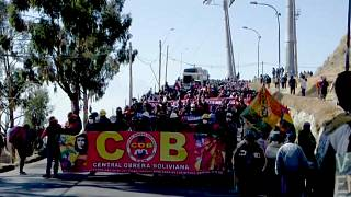 Protestas en Bolivia contra el gobierno de Áñez