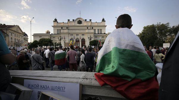 Manifestantes en Bulgaria piden la dimisión del primer ministro en el noveno día de protestas