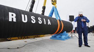 Boru hattı projesinde çalışan bir Rus işçi
