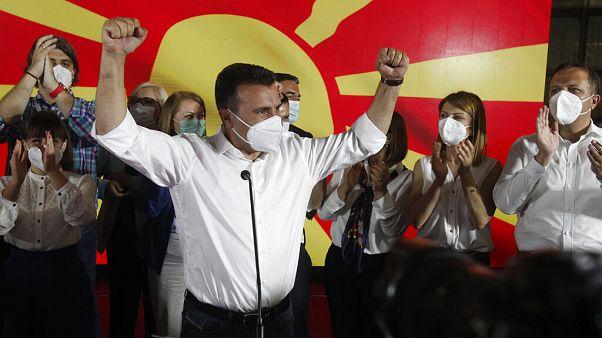 Kuzey Makedonya seçimlerinde sosyal demokrat ittifakı az farkla önde