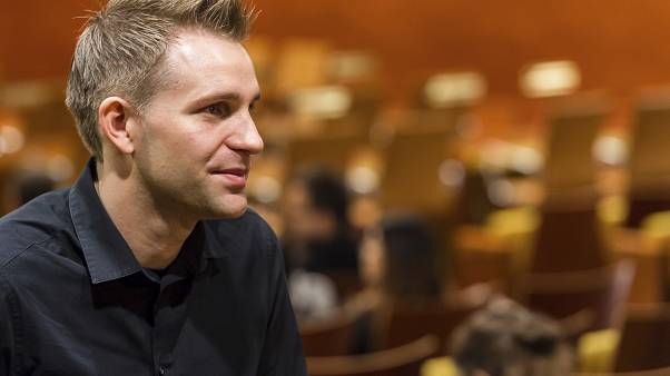 File photo: Austria's Max Schrems listens to a ruling at the European Court of Justice in Luxembourg. October 6, 2015.