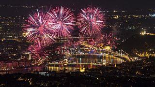 A tavalyi tűzijáték Budapesten