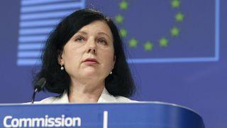 Věra Jourová, az EU értékekért és átláthatóságért felelős biztosa