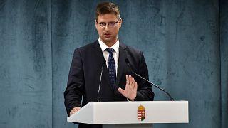 Gulyás Gergely Miniszterelnökséget vezető miniszter a Kormányinfón 2020. július 16-án