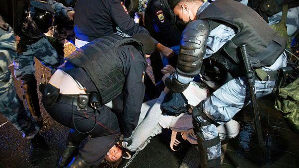 بیش از ۱۴۰ معترض روسی در مسکو بازداشت شدند