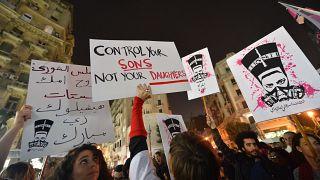 متظاهرون ينددون بالتحرش الجنسي في العاصمة المصرية القاهرة
