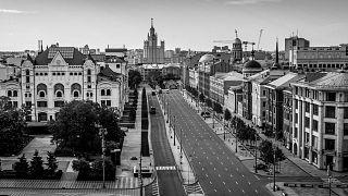 Политехнический музей и Новая площадь. Вид со смотровой площадки Центрального Детского Магазина